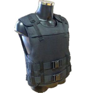 Бронежилет со стальной бронепанелью по классу защиты Бр3